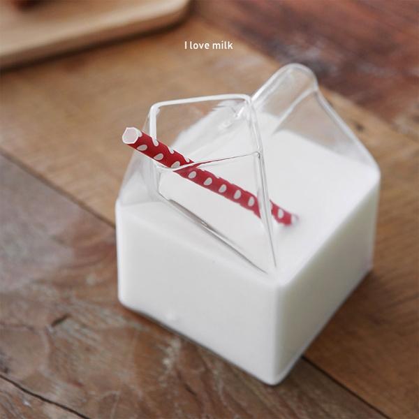 [DDUDDU] 푸코 밀크팩 유리컵