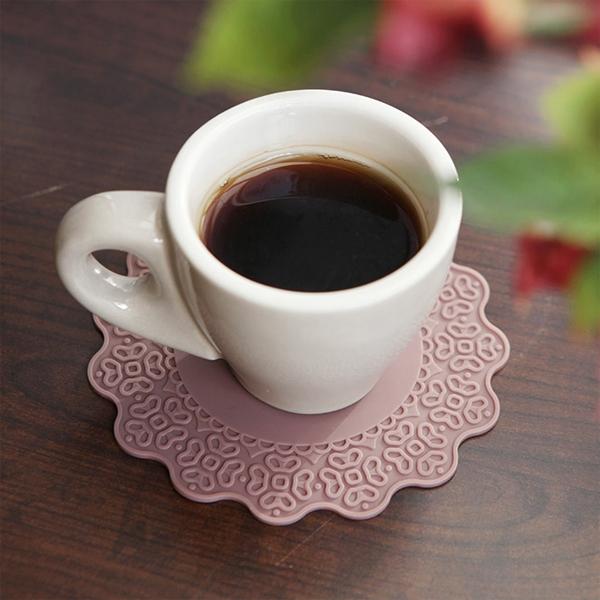 [DDUDDU] 파스텔 실리콘 플라워 컵받침 4P