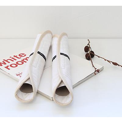 [콩지] 내추럴 화이트자수 손잡이커버
