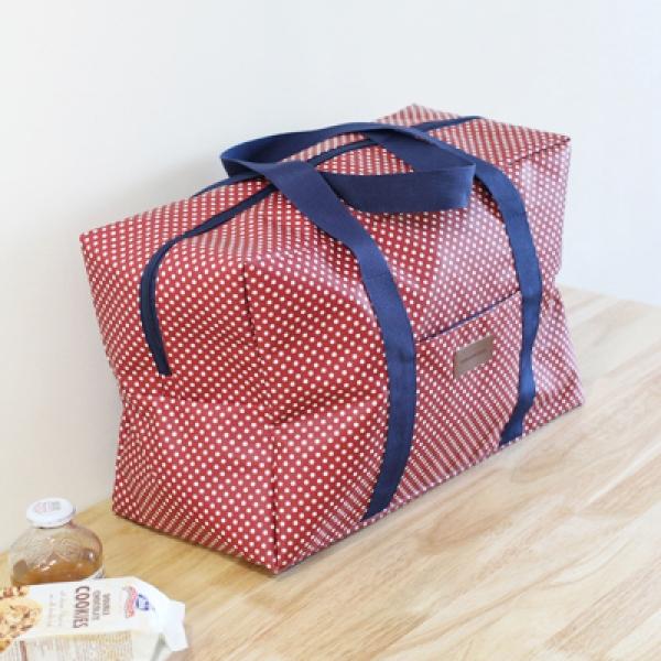 [콩지] 도트 패턴 여행가방
