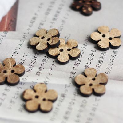 [콩지] 빈티지 꽃 단추 10P