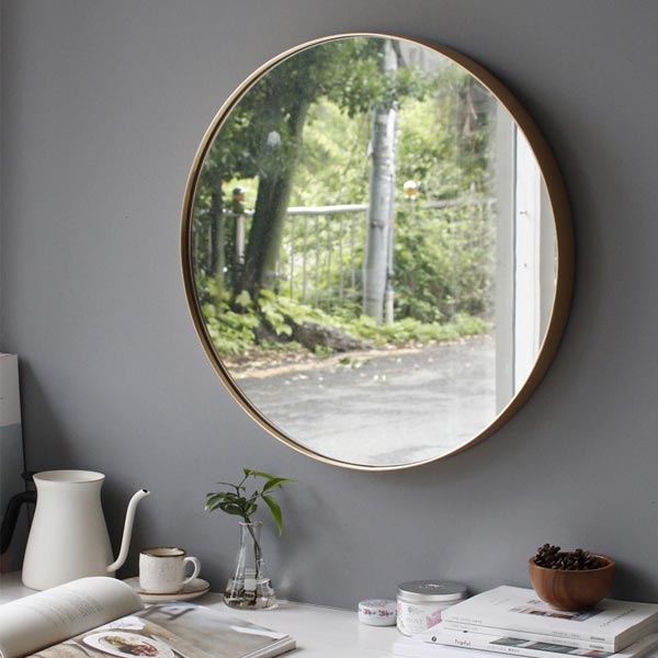 [2HOT] 골드 원형 벽거울 중
