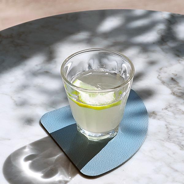 [N365] 델피노 인조가죽 컵받침 2P