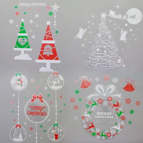 [자연과 사람] 크리스마스 월 스티커