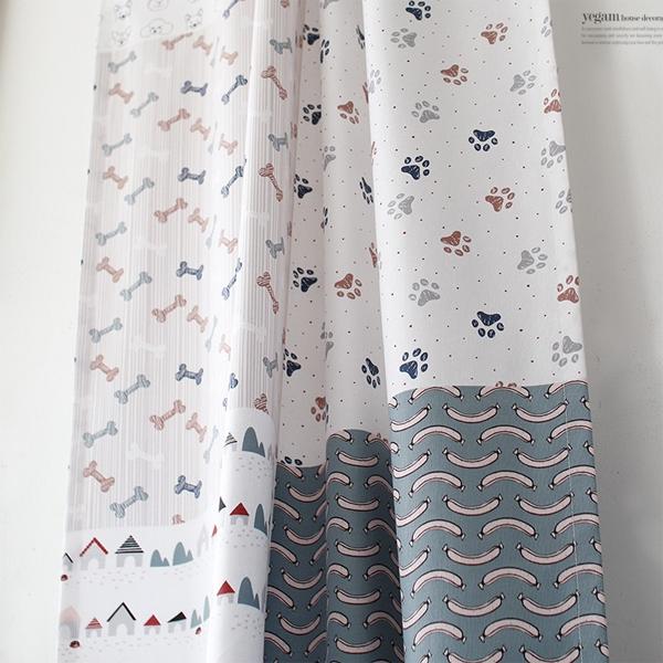 [2HOT] 강아지 패턴 가리개 80x130