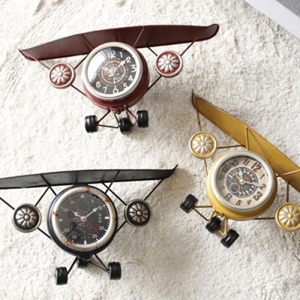 [2HOT] 빈티지 비행기 철제 시계
