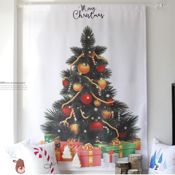 [2HOT] 크리스마스 트리 벽장식 가리개 90x130