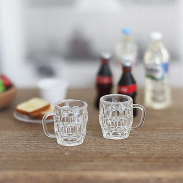[콩지] 미니어쳐 유리컵 2P