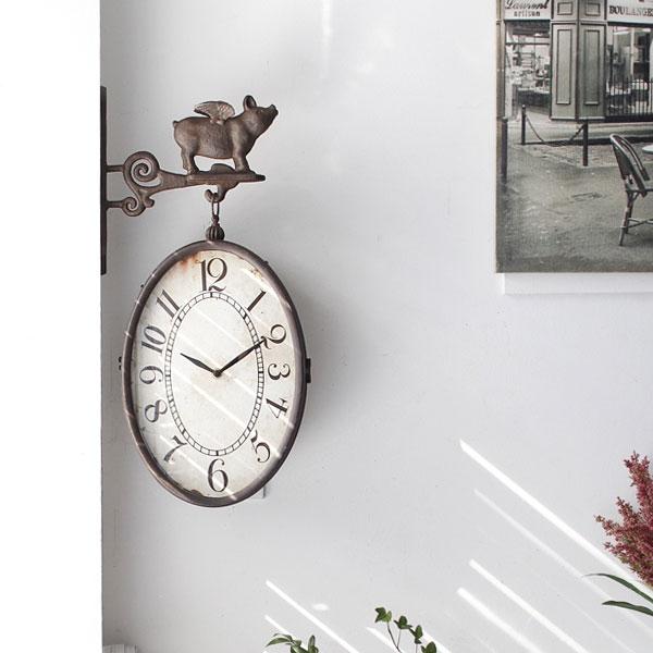 [2HOT] 빈티지 엔젤피그 양면시계