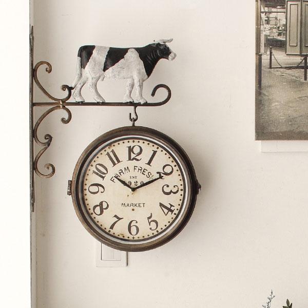 [2HOT] 빈티지 팜카우 양면시계