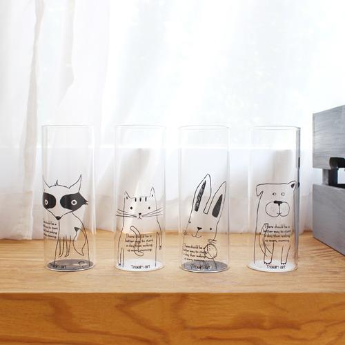 [자연과 사람] 동물 유리컵
